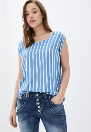 Блуза Fresh Made. Цвет: синий
