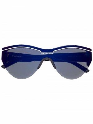 Солнцезащитные очки Ski Cat в оправе кошачий глаз Balenciaga Eyewear. Цвет: синий