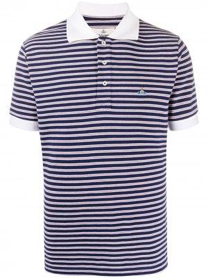 Полосатая рубашка-поло Vivienne Westwood. Цвет: синий
