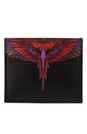 Кожаный футляр для кредитных карт Marcelo Burlon. Цвет: чёрный