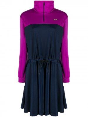 Платье в стиле колор-блок MSGM. Цвет: синий
