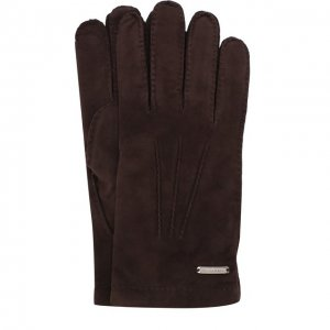 Замшевые перчатки Corneliani. Цвет: коричневый