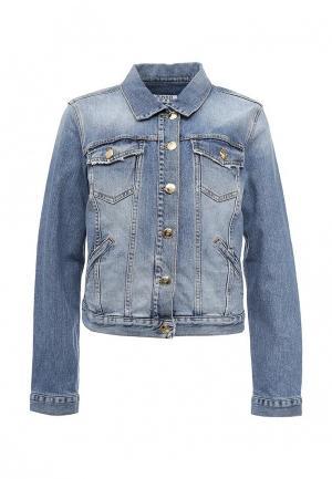 Куртка джинсовая Pinko PI754EWOIC94. Цвет: голубой