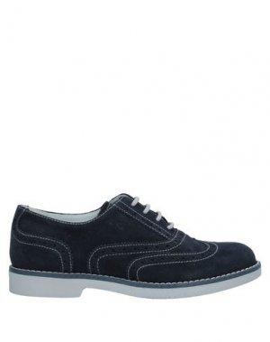 Обувь на шнурках NERO GIARDINI JUNIOR. Цвет: темно-синий