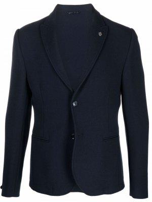Костюмный пиджак Daniele Alessandrini. Цвет: синий