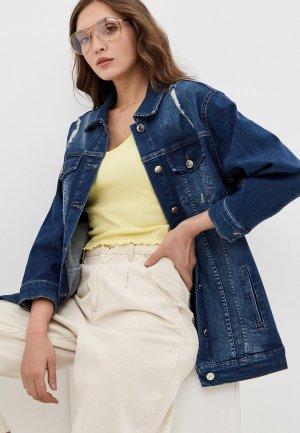 Куртка джинсовая Franco Vello. Цвет: синий