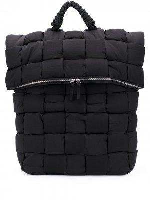 Дутый рюкзак Bottega Veneta. Цвет: черный