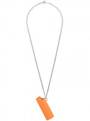 Колье с кулоном в форме зажигалки AMBUSH. Цвет: оранжевый