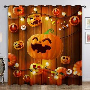 Однопанельная занавеска с узором на хэллоуин SHEIN. Цвет: многоцветный