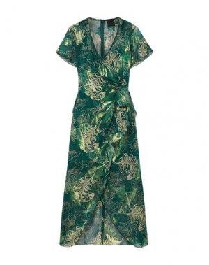 Платье миди ANNA SUI. Цвет: зеленый