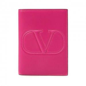 Кожаная обложка для паспорта Garavani Valentino. Цвет: розовый