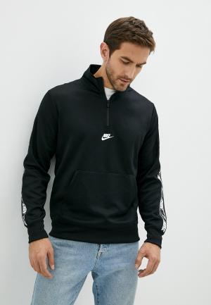 Олимпийка Nike M NSW REPEAT PK HZ TOP. Цвет: черный