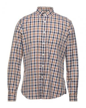Pубашка AQUASCUTUM. Цвет: бежевый