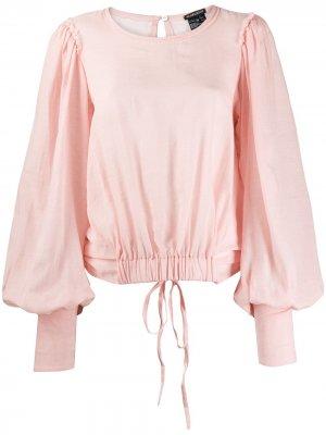 Блузка с драпировrкой на спине Ann Demeulemeester. Цвет: розовый