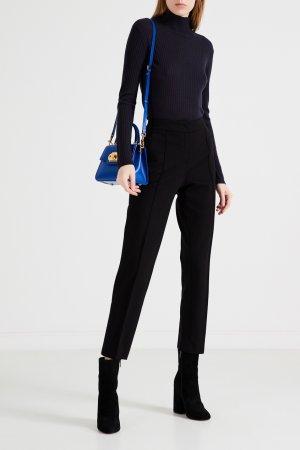 Синий пуловер с высокой горловиной Max Mara Studio