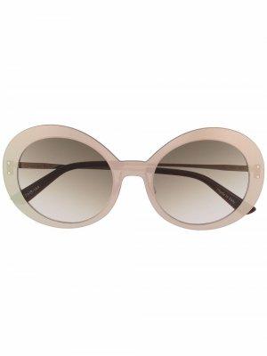 Солнцезащитные очки Archive в круглой оправе Christian Roth. Цвет: золотистый