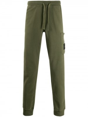 Спортивные брюки из джерси Stone Island. Цвет: зеленый