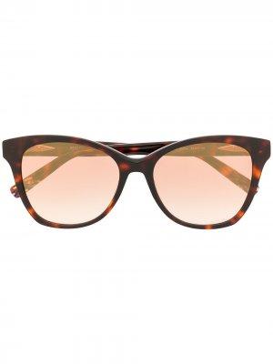 Солнцезащитные очки в оправе черепаховой расцветки MISSONI EYEWEAR. Цвет: коричневый