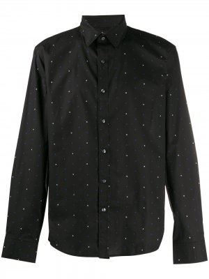 Рубашка кроя слим с принтом Michael Kors. Цвет: черный