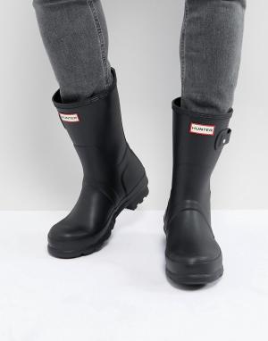 Черные короткие резиновые сапоги original-Черный Hunter