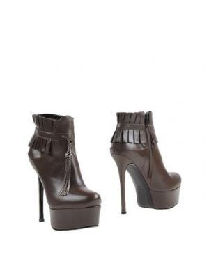 Полусапоги и высокие ботинки GERARDINA DI MAGGIO. Цвет: какао