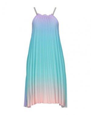 Короткое платье SOALLURE. Цвет: небесно-голубой