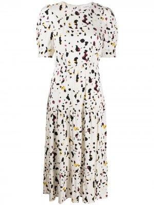 Платье миди Tony с узором Ba&Sh. Цвет: белый