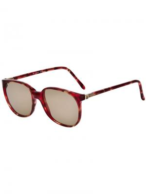Крупные солнцезащитные очки LANVIN Pre-Owned. Цвет: красный