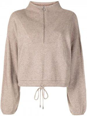 Пуловер Hana с воротником на молнии Jonathan Simkhai. Цвет: коричневый