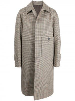 Костюм с однобортным пиджаком в клетку Wooyoungmi. Цвет: разноцветный