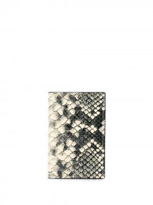 Бумажник с тиснением под кожу змеи Giuseppe Zanotti. Цвет: нейтральные цвета