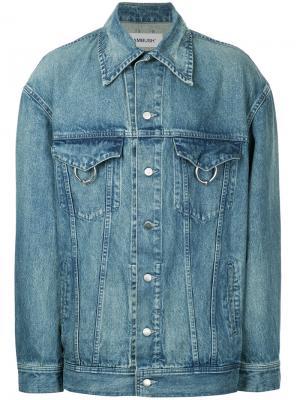Свободная джинсовая куртка Ambush. Цвет: синий