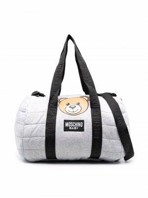 Teddy Bear logo print bag Moschino Kids. Цвет: серый