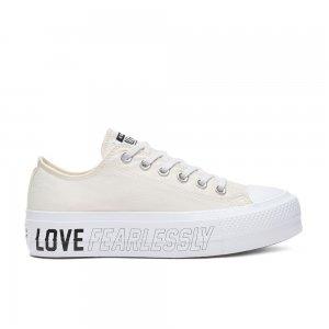 Chuck Taylor All Star Love Fearlessly Platform Low Top Converse. Цвет: бежевый
