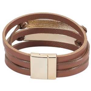 Браслет Ekonika EN40001-lt.brown-gold-21L