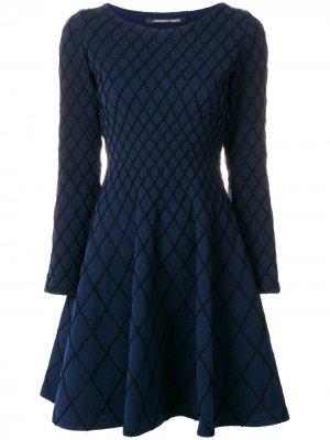 Трикотажное расклешенное платье Antonino Valenti. Цвет: синий
