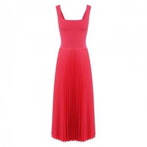 Платье-миди Theory. Цвет: розовый