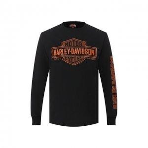 Хлопковый лонгслив Exclusive for Moscow Harley-Davidson. Цвет: чёрный