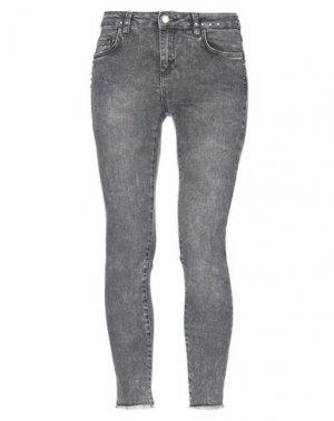 Джинсовые брюки BSB. Цвет: серый