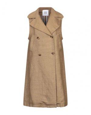 Легкое пальто DOUUOD. Цвет: верблюжий