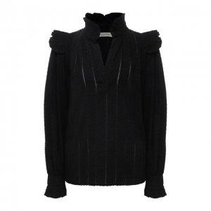 Блузка из хлопка и вискозы By Malene Birger. Цвет: чёрный
