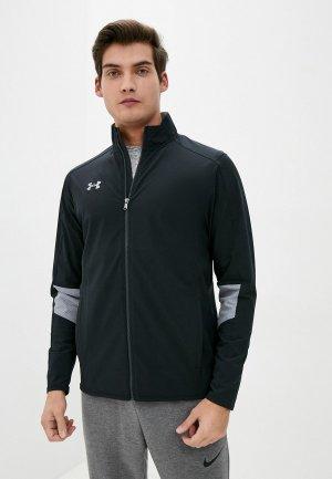 Куртка Under Armour Charger Warm Up Woven Full Zip. Цвет: черный