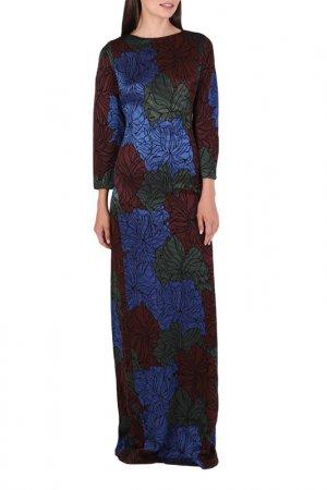 Платье Chapurin. Цвет: бордовый, зеленый, синий