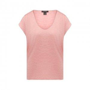 Шелковая футболка St. John. Цвет: розовый