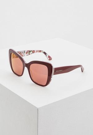 Очки солнцезащитные Dolce&Gabbana DG4348 3202D0. Цвет: бордовый
