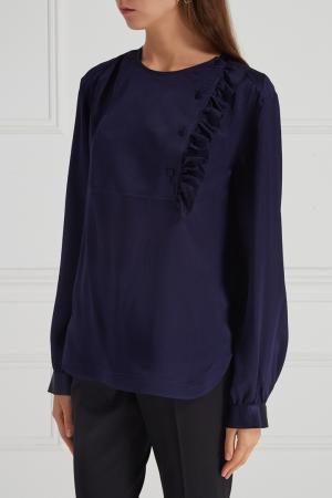 Шелковая блузка Aquilano.Rimondi. Цвет: синий