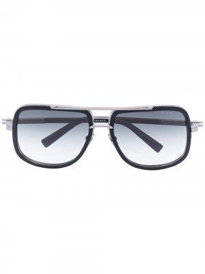 Солнцезащитные очки Mach в квадратной оправе Dita Eyewear. Цвет: черный