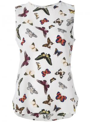 Butterfly print top Equipment. Цвет: белый