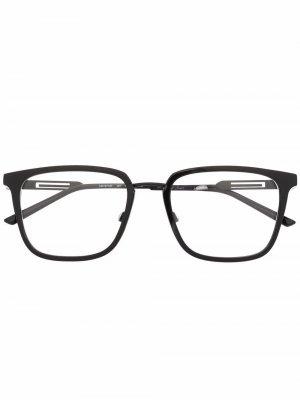 Очки трапециевидной формы Calvin Klein. Цвет: черный