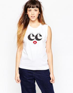 Майка с логотипом See By Chloe Eyelash. Цвет: белый
